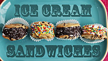 Easy #IceCream Sandwiches from @pbs – cookies, ice cream, sprinkles…done! #IceCreamMonth