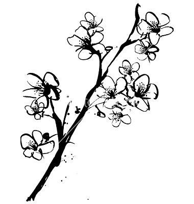 Free Vector   Cherry blossom ink illustration vector 175 ...