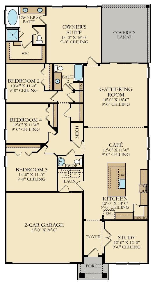 Sierra New Home Plan in Shearwater Shearwater