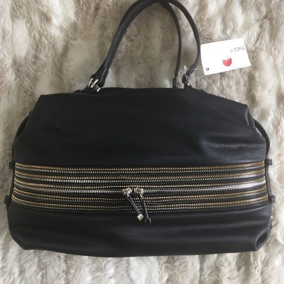 SALE Stunning, brand new, BIG BUDDHA  bag! Black shoulder bag with multicolor zip detail on the front and plenty of storage on the inside. Removable Long strap included! Dimensions are 11x14x7 inches deep Big Buddha Bags Shoulder Bags