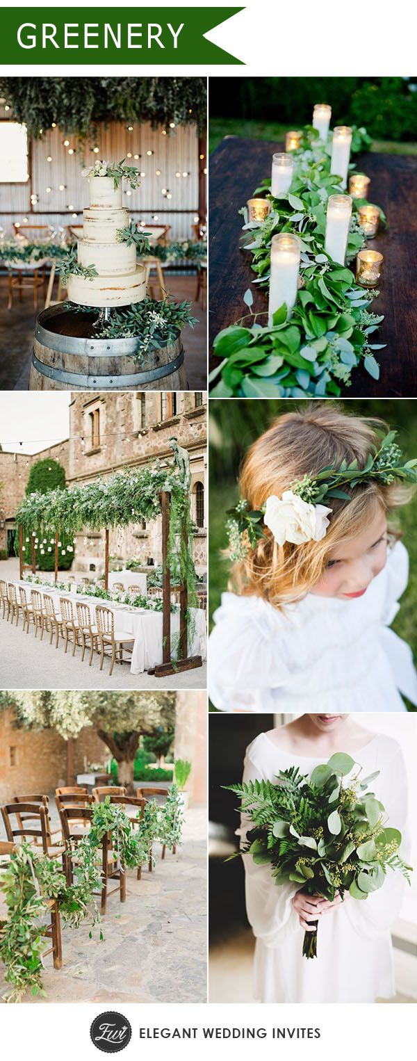 Wedding decoration ideas 2018  Ten Trending Wedding Theme Ideas for   Wedding trends Greenery