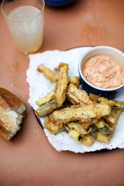 Fried Zucchini Recipe via Edible Living @Sarah Copeland