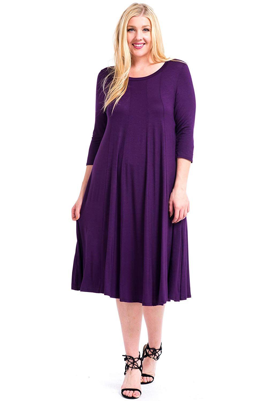 Modern kiwi womenus plus size long sleeve flowy maxi dress xx
