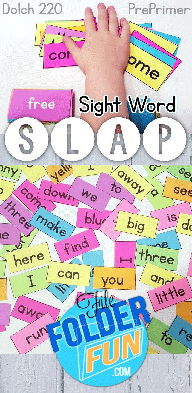Free Sight Word Printables - | Slap game, Sight words printables ...