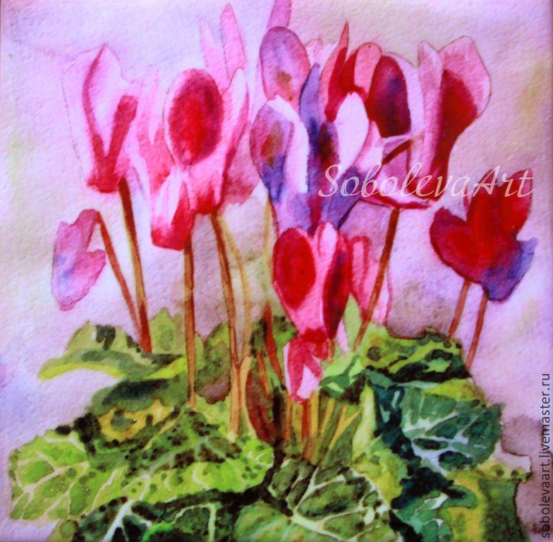 Букет из цикламена, букет невесты из тюльпанов в белгороде