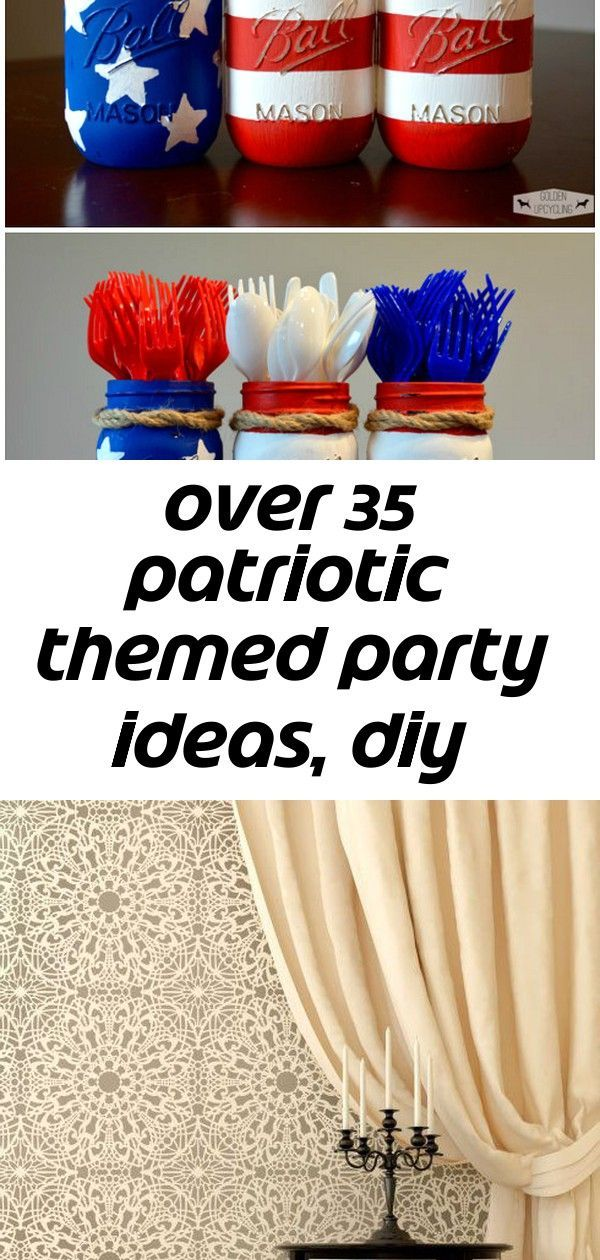 Over 35 patriotic themed party ideas, diy decorations, crafts, fun foods and recipes 10 #labordayfoodideas Over 35 Patriotic Party Ideas! Crafts, DIY Decorations, fun food treats and Recipes. Perfect for Memorial Day, Fourth of July and Labor day fun or summer fun - www.kidfriendlythingstodo.com  DIY Sofa Table for Only $30 #labordayfoodideas
