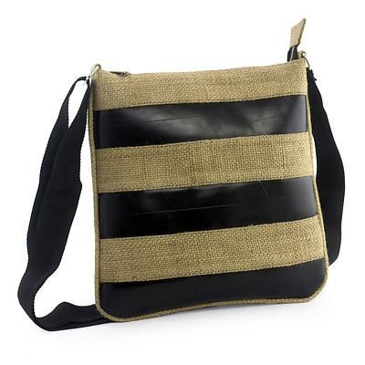 Jute shoulder bag, 'Bold Beauty' by NOVICA