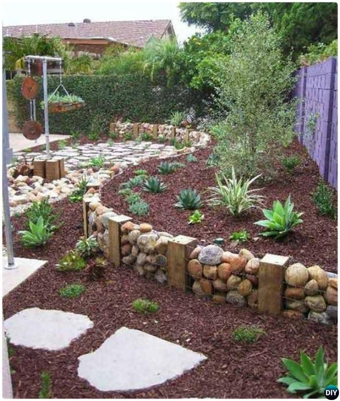 Creative Garden Bed Edging Ideas Projects Instructions With