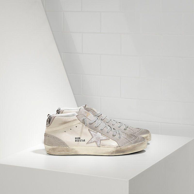 a22b58cee GGDB Mid Star Heren Sneaker Wit Zilver | GGDB Mid Star Sneaker ...