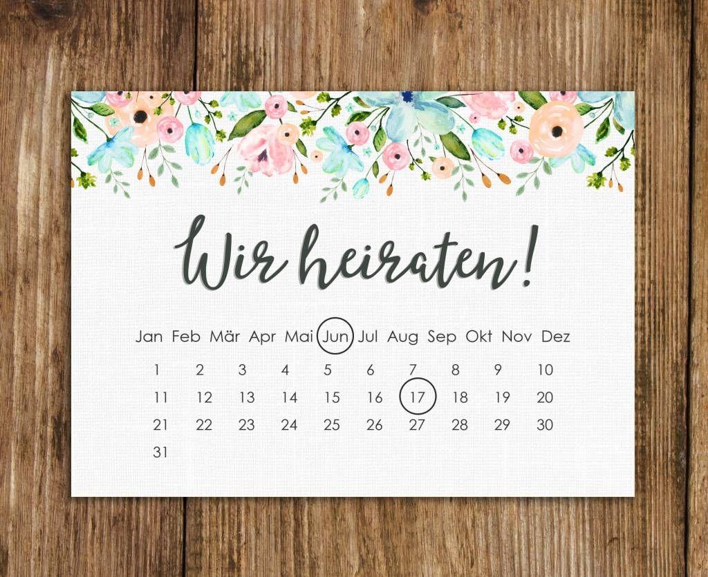 Save the date Karten, Hochzeitseinladungen – hochzeit
