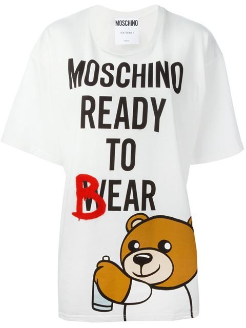 0f8ee337461f MOSCHINO 'Ready to Bear' T-shirt. #moschino #cloth #t-shirt ...