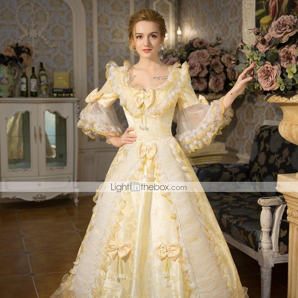 Princess Queen Elizabeth Victorian Maria Antonietta Rococo Baroque 18th Century Square Neck Vacation Dress Dress Outfits Party Costume Masquerade Women S Floral Victorian Dress Costume Dress Outfits Party Lace Costume [ 1000 x 999 Pixel ]