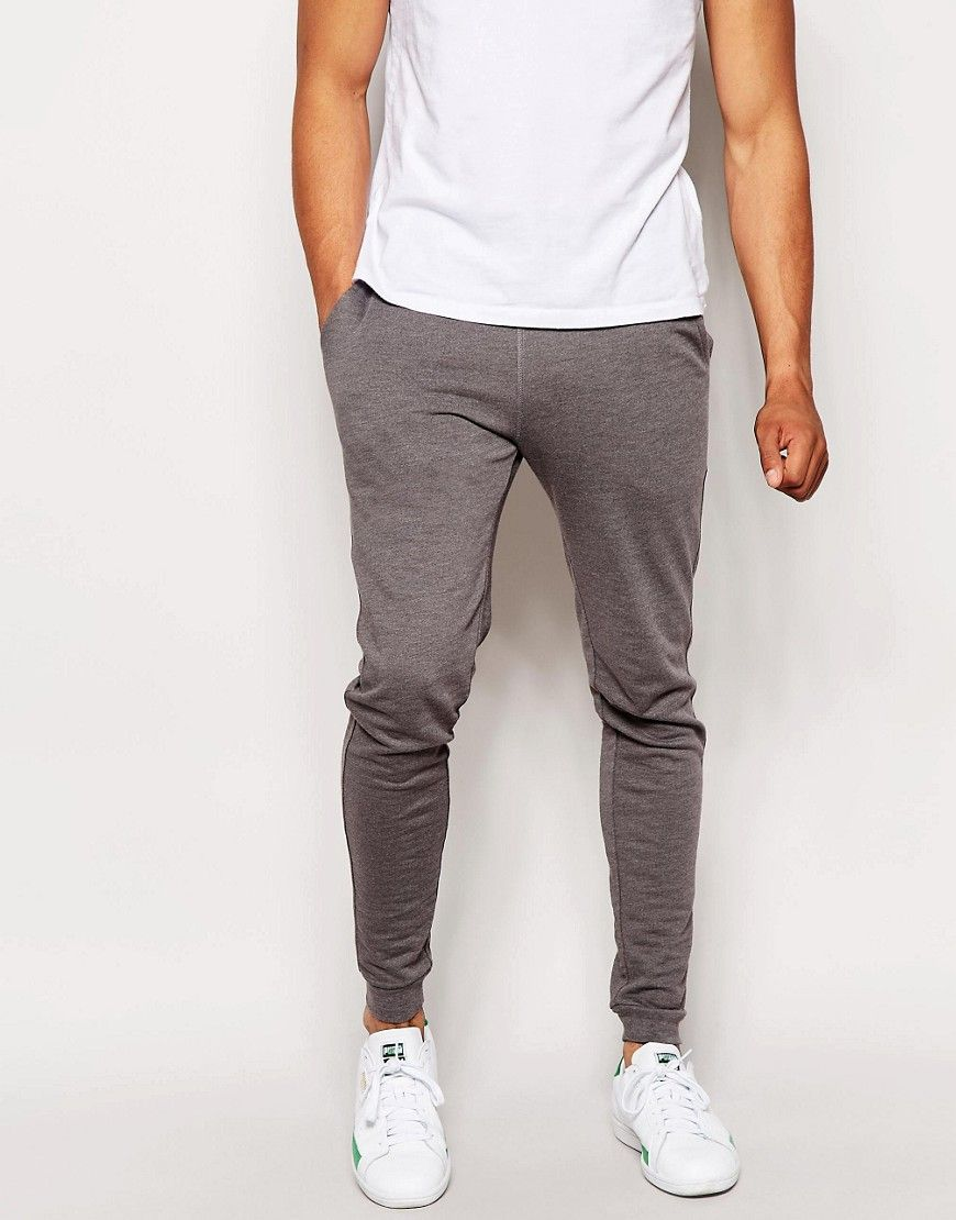 Shop ASOS Lightweight Extreme Super Skinny Joggers In Black at ASOS.