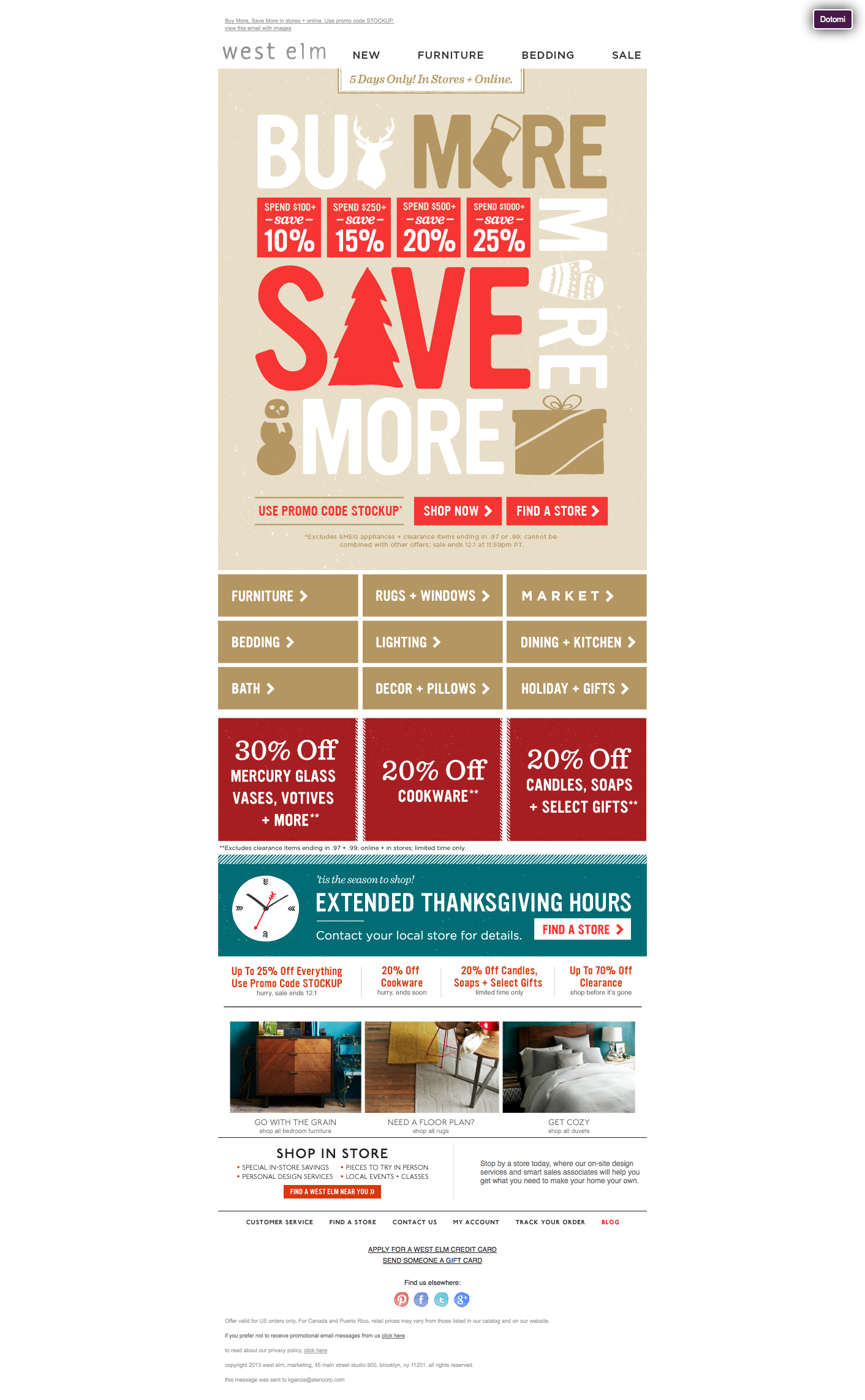 West Elm Buy More Save More Email Email design, Window