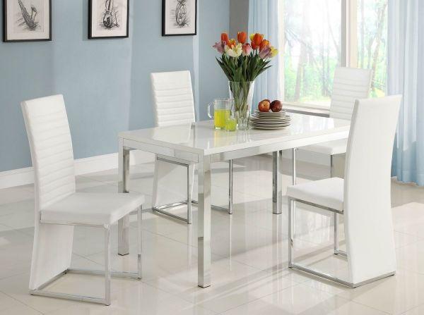 moderne esszimmermöbel ideen weißes design | jantar | pinterest, Esstisch ideennn