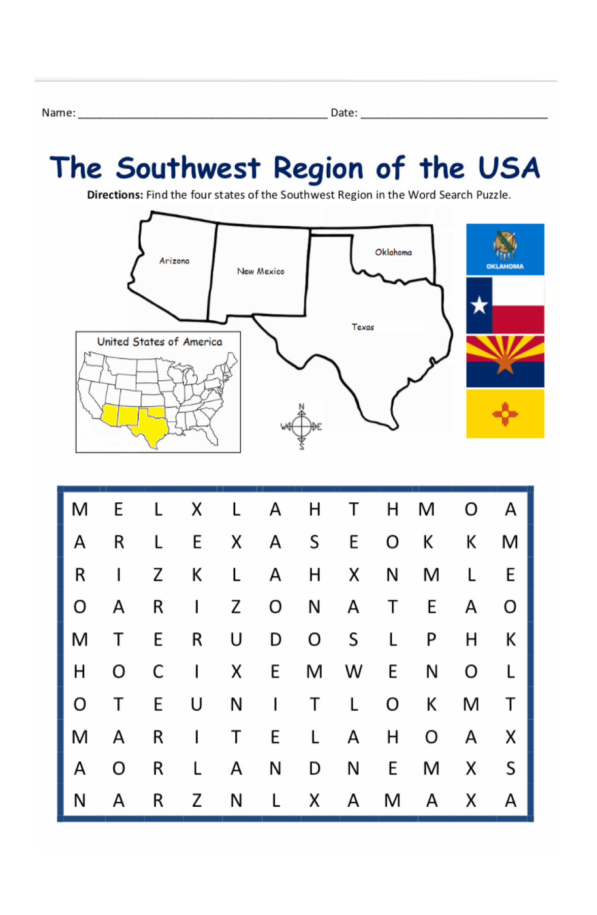 Learn US Geography the fun way - Word Search Puzzles ...