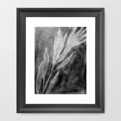Leaves Silhouette Framed Art Print by Rachel Winkelman - $32.00