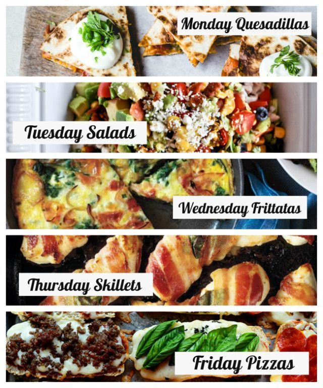 30 minute dinners a weekly meal plan for busy families 30 min this is a brilliantly system for easy family meal planning post has lots of 30 min meal ideas for each theme day too via modern parents messy kids sisterspd