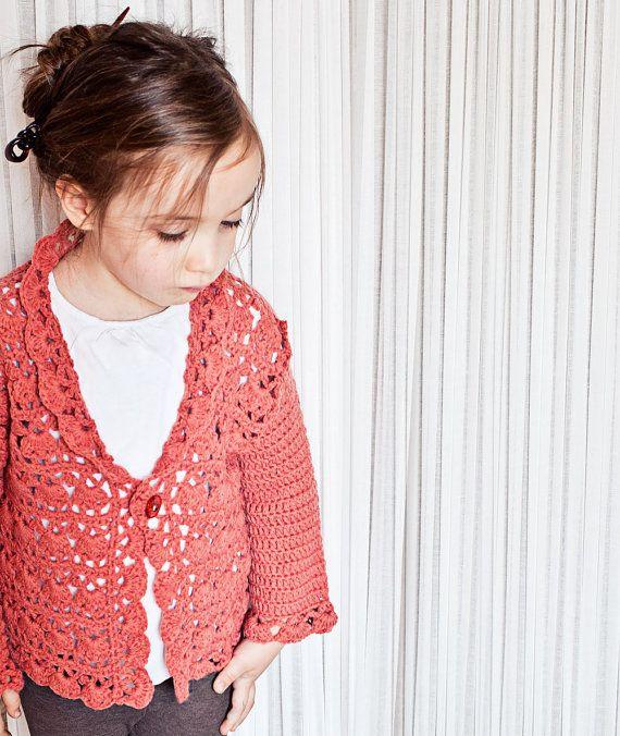 Crochet PATTERN - Harriet Lace Cardigan (sizes newborn up to 8 years ...