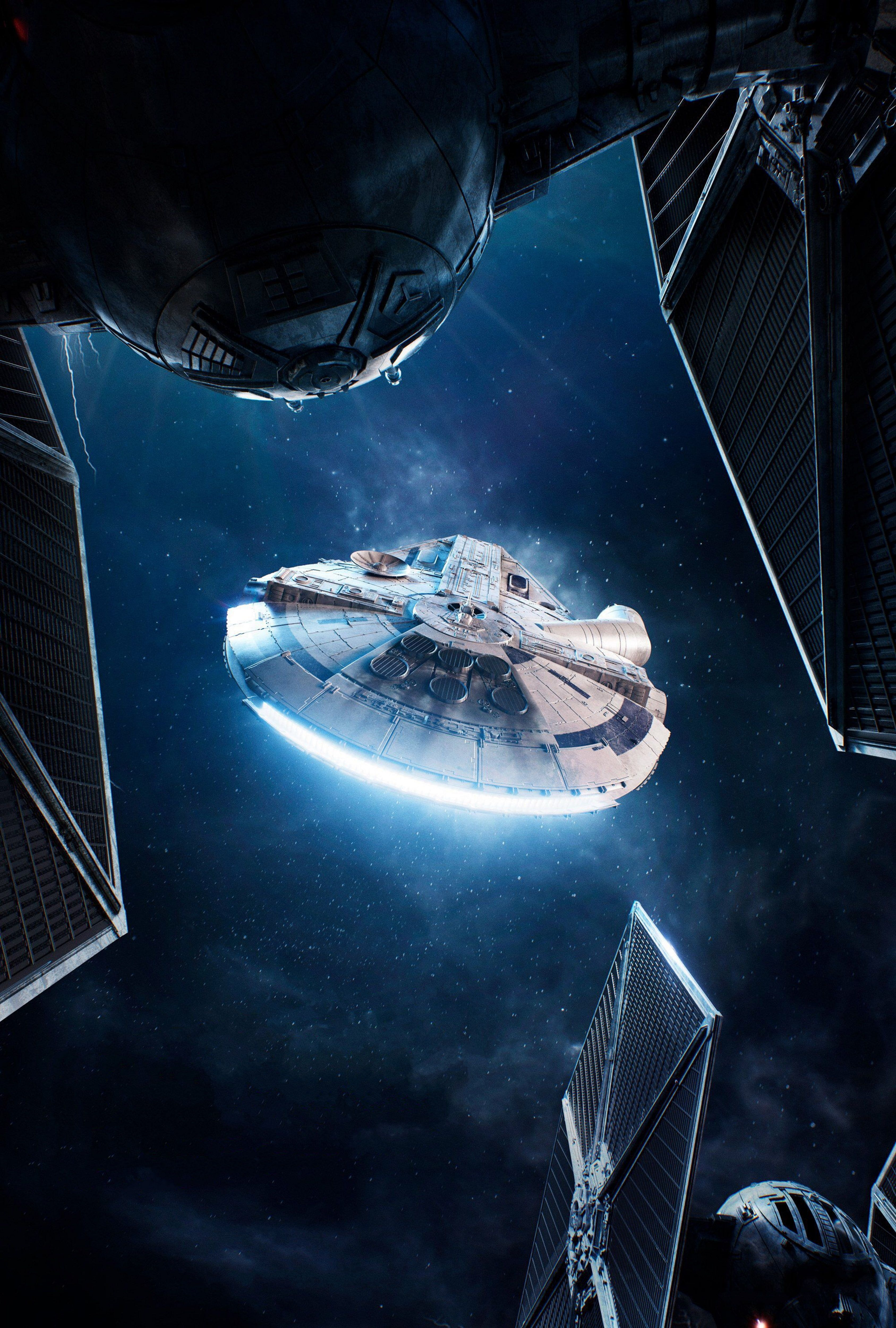 Spaceship 4k Solo A Star Wars Story Millennium Falcon 4k Wallpaper Hdwallpaper Desktop In 2020 Star Wars Wallpaper Star Wars Spaceships Star Wars Background