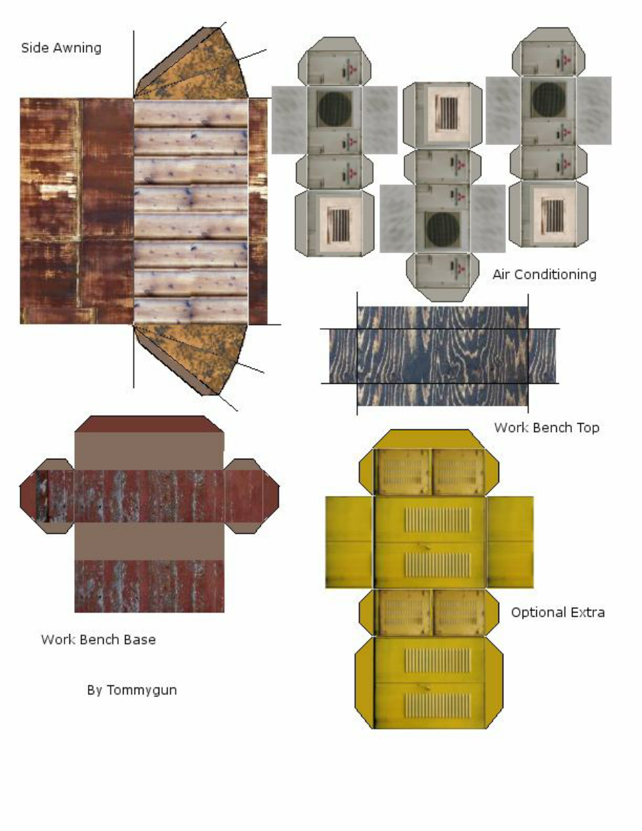 Andys Armies: 28mm paper terrain buildings, billboards and bits