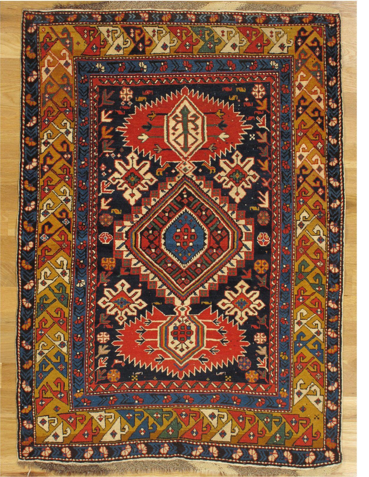 Karagashli Rug Kuba District Eastern Caucasus West Coast Of The Caspian Sea Circa 1870 Dimensions 5 0 X3 6 152x107 Cm Rugs On Carpet Rugs Antique Rugs