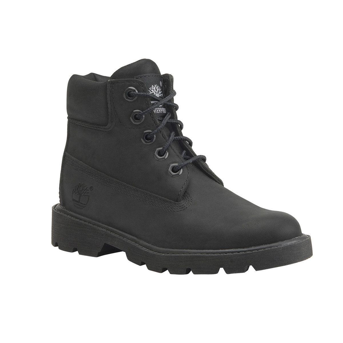 cdf57974b3 Timberland - Kids  6 Inch Classic Waterproof Boot (Toddler) - Black Nubuck