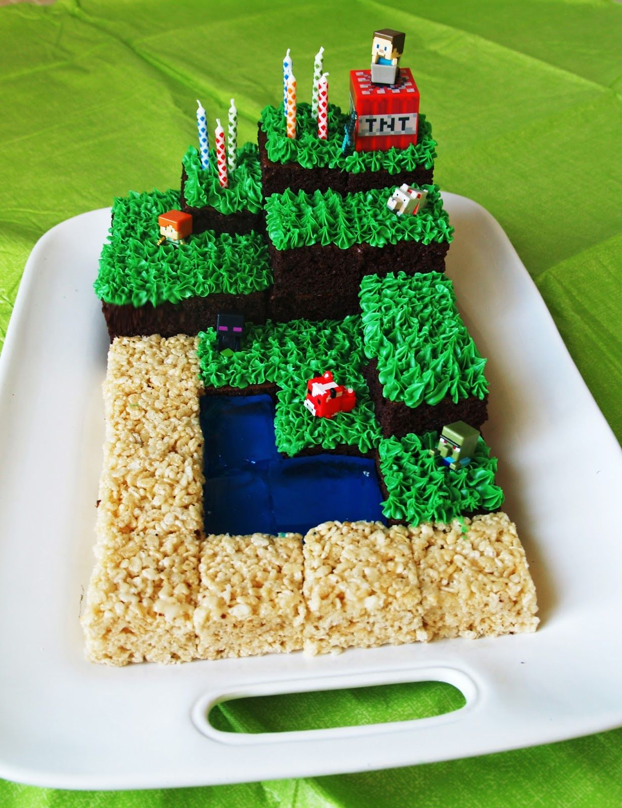 Minecraft Landscape Cake Check Out The Video She Links To For A