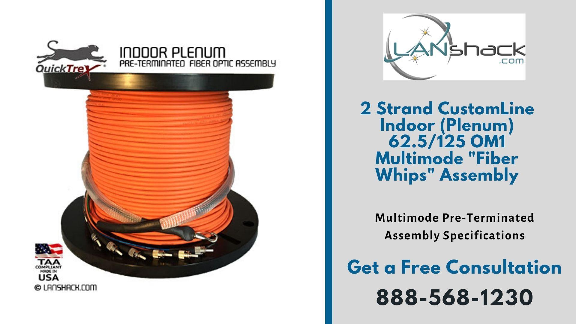 Indoor Plenum Pre Terminated Assembly In 2020 Fiber Optic Cable Fiber Optic Optical