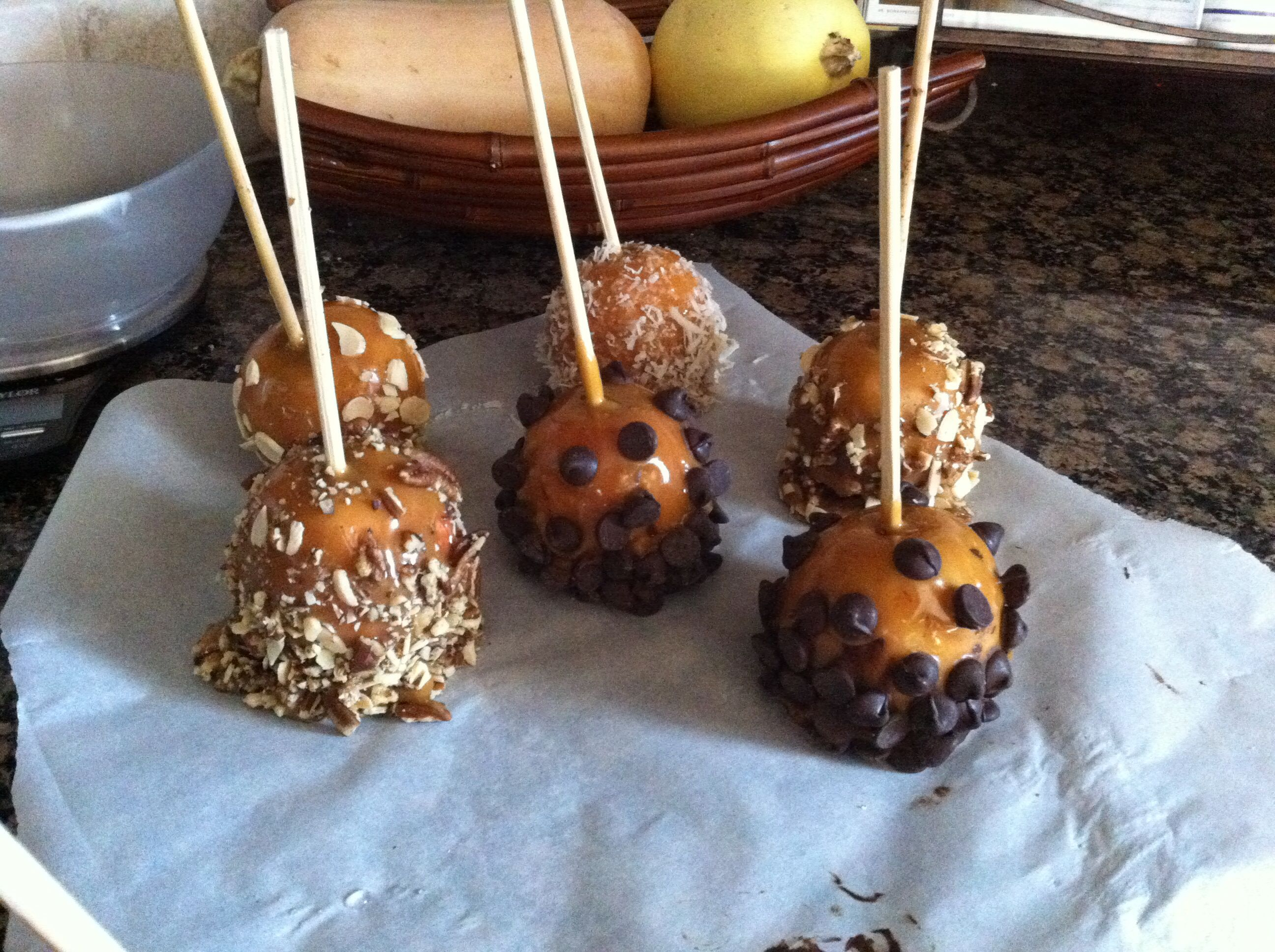 Homemade caramel apples even made the sweetened condensed