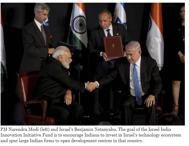 Israel and India launched a fiveyear technology fund