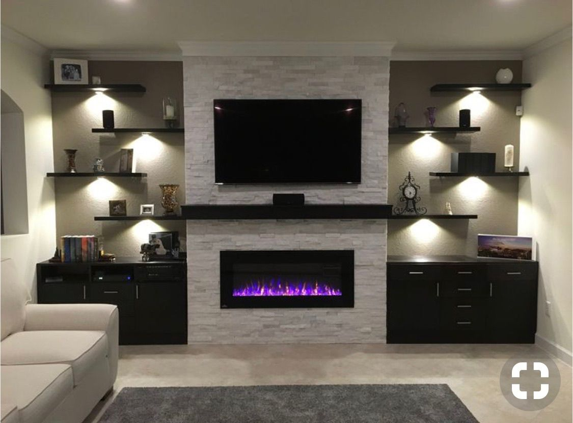Mantel Electric Fireplace Trendy Living Rooms Living Room With Fireplace Living Room Tv Wall
