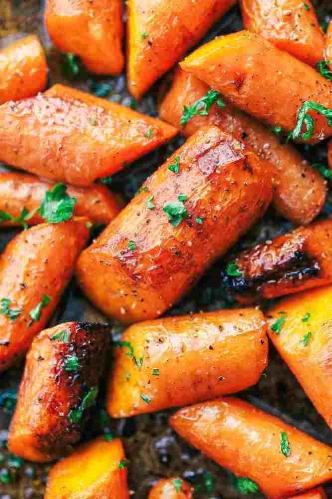 Geröstete Brown Butter Honig Knoblauch Karotten – Rezepte de –  Geröstete Brow…