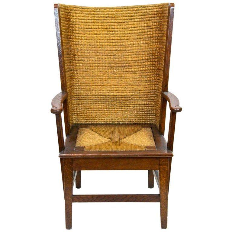 1stdibs Straw, Rush, Wood, Oak Orkney Island Scottish Armchair