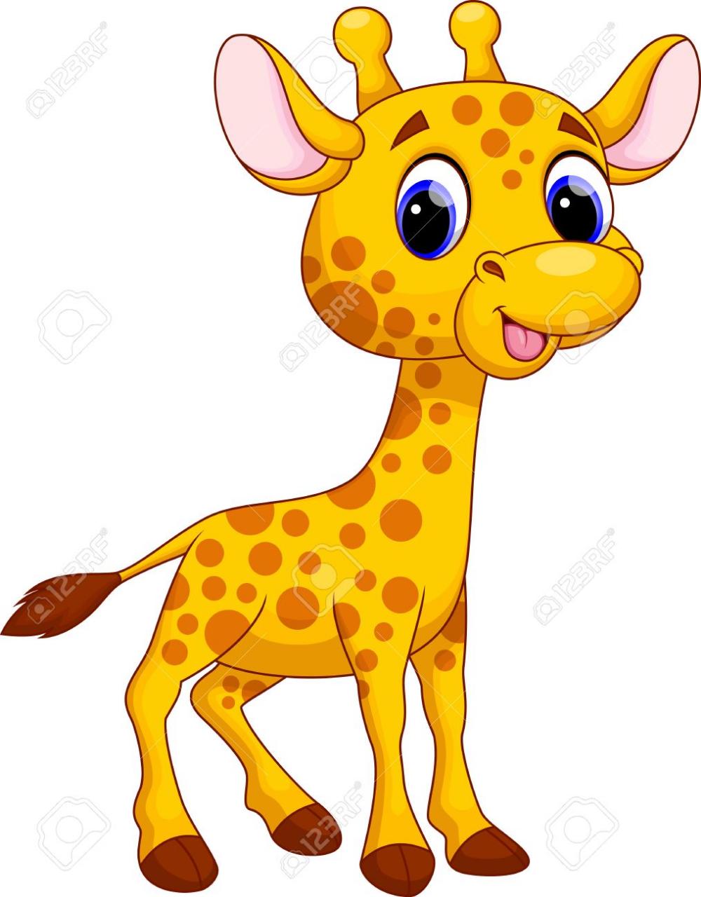 Linda Jirafa De Dibujos Animados Jirafa Animada Imagenes Infantiles De Animales Dibujos De Animales Tiernos