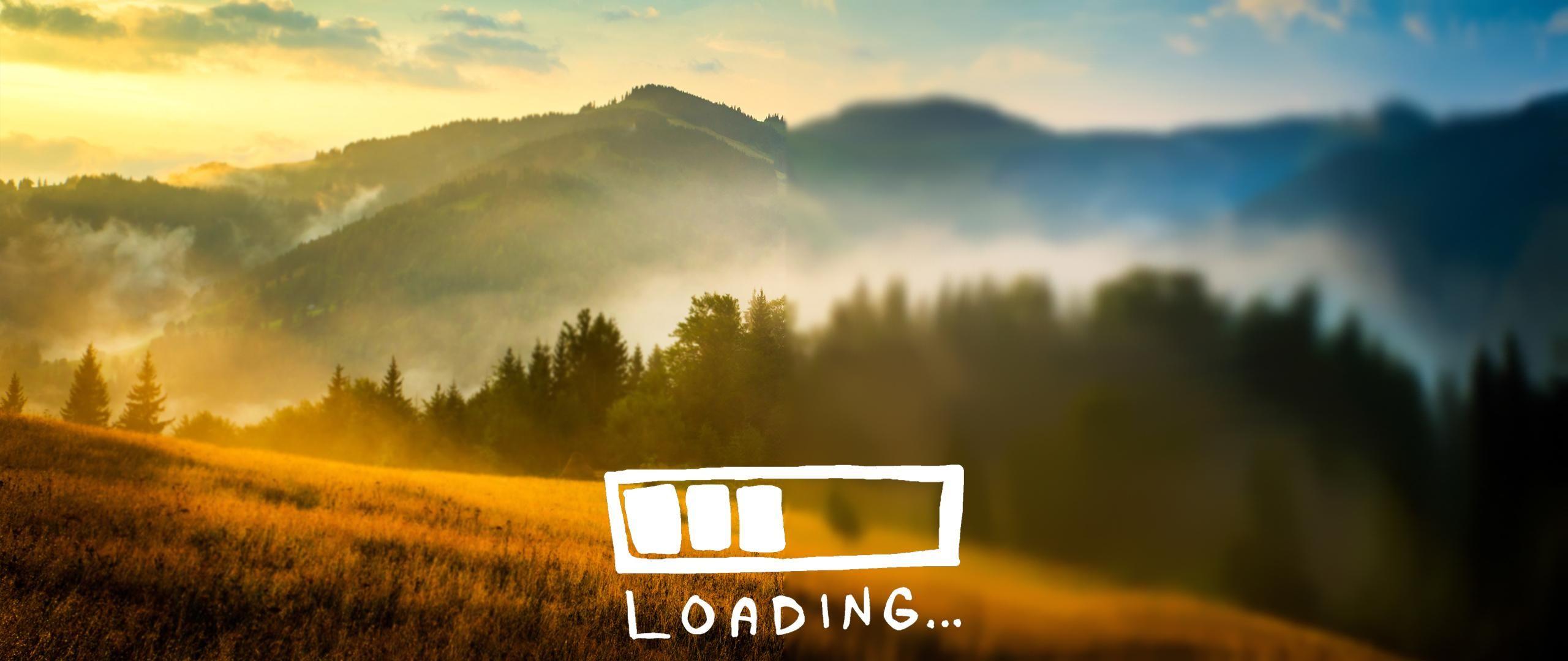 'Loading' ultrawide wallpaper (2560x1080) | Wallpaper ...