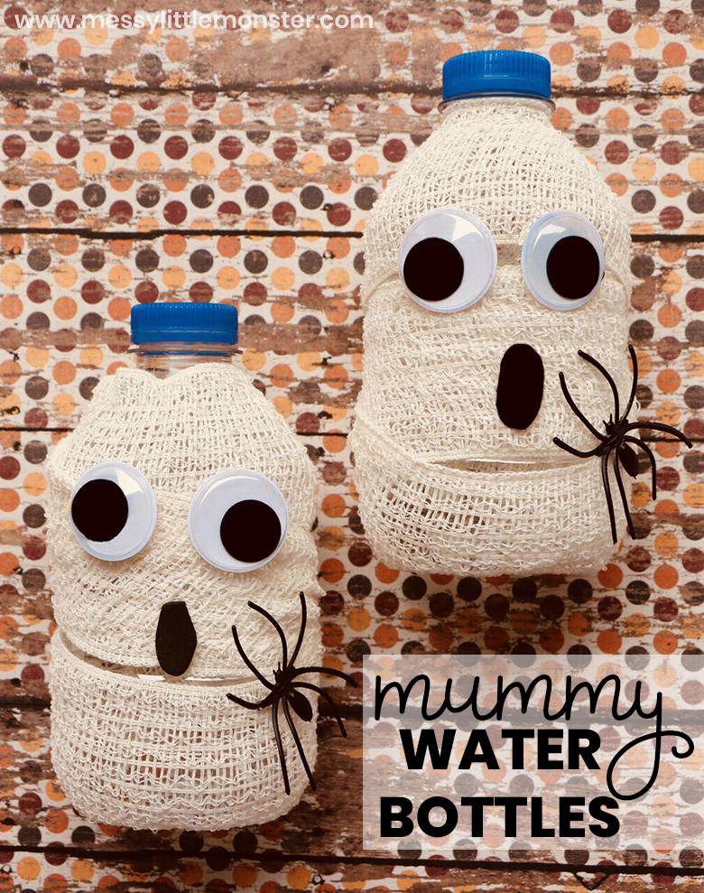 Halloween Drink Mummy Water Bottles Easy halloween