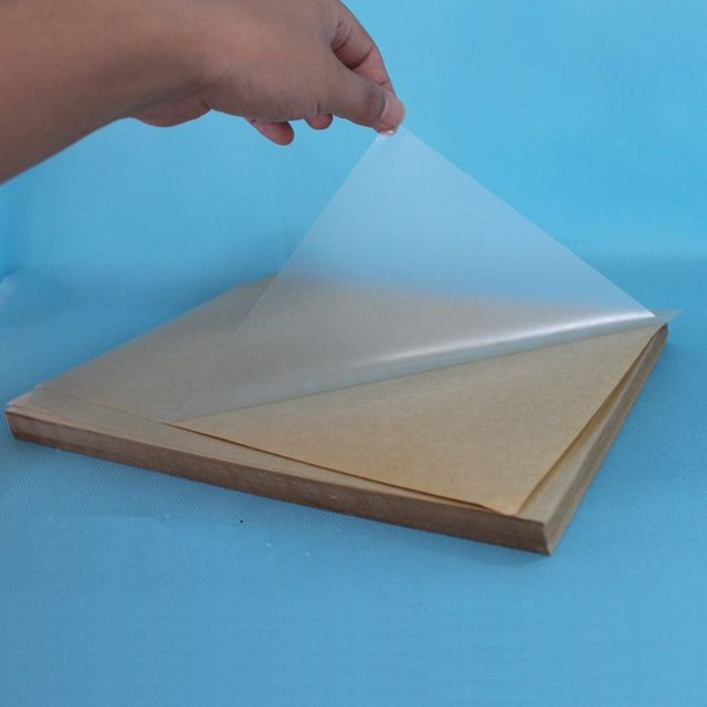 100 sheets A4 Self adhesive blank clear plastic PVC label sticker transparent PVC lamination film