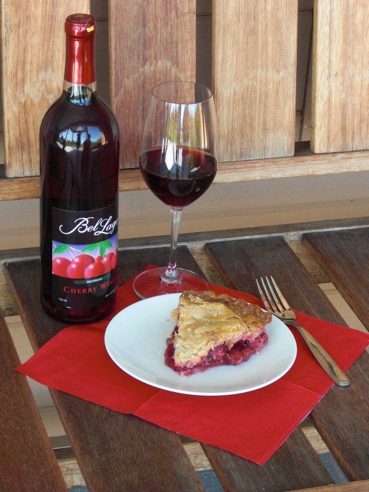 Cherry Wine Bel Lago Leelanau Peninsula Michigan Cherry Wine Wine Food