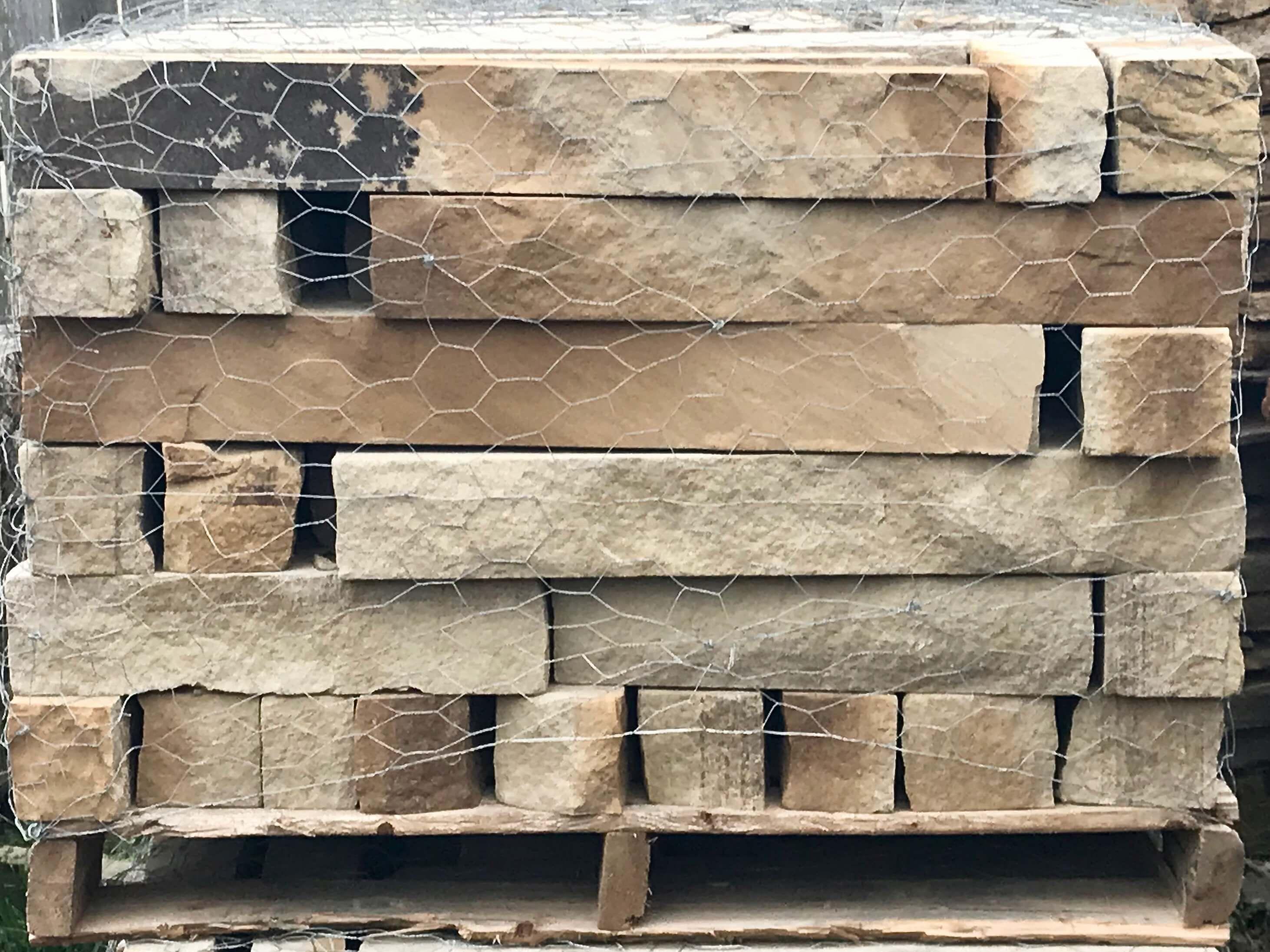 Chopped stone natural stone garden edging houston