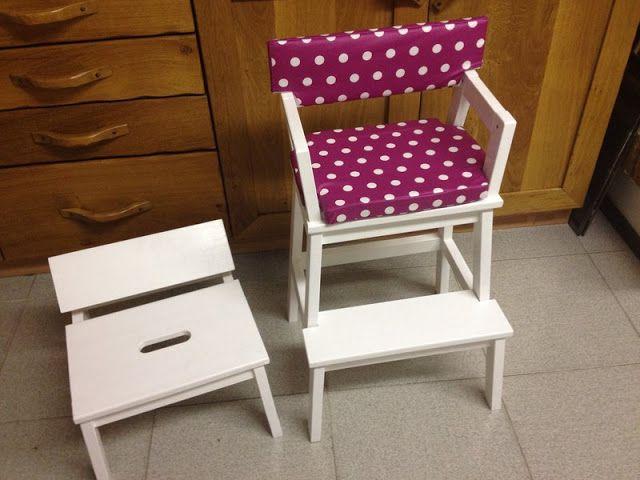 Scaletta come sedia alta per bambini | Fai da te ikea, Idee ...