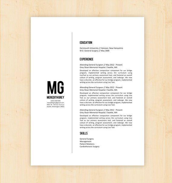 4 Minimalist Resumes graphic Pinterest Template