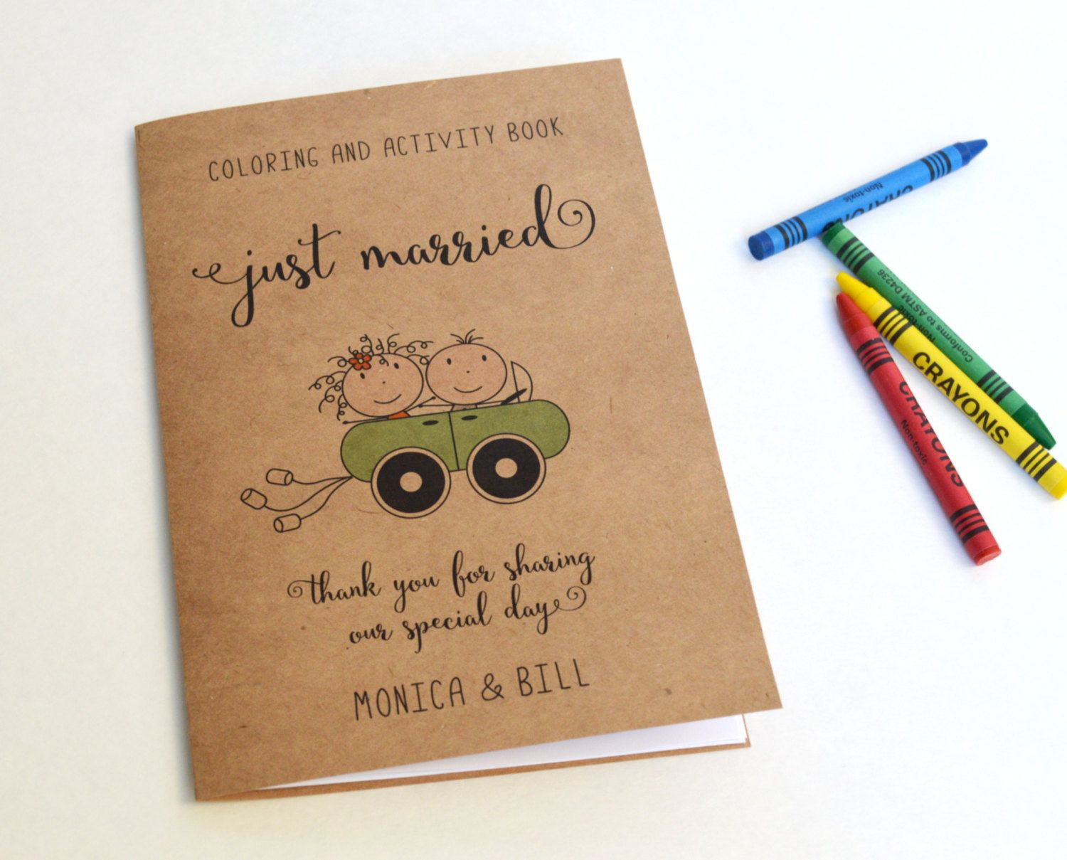 Personalized Kids Wedding Activity Books With OR Without Crayons This Listing Is