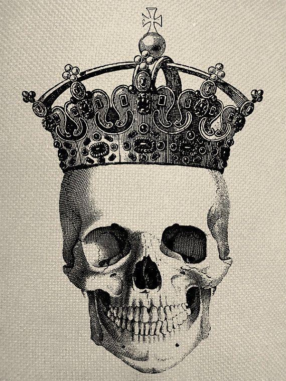 왕관을 쓴 해골