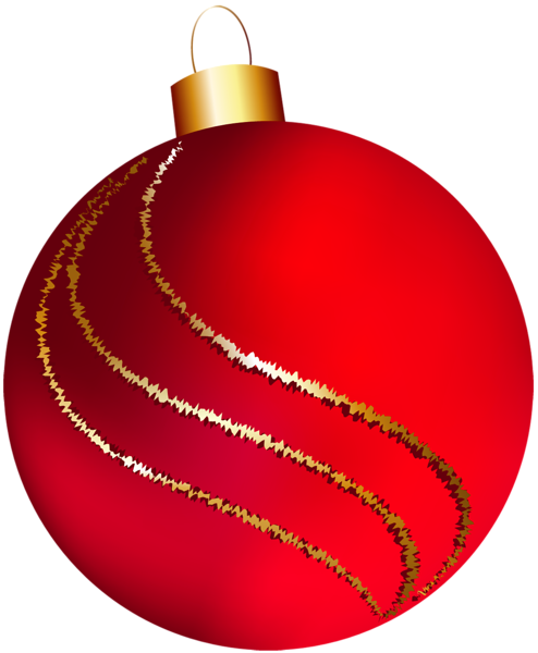 Transparent Christmas Large Red Ornament Clipart Christmas Clipart