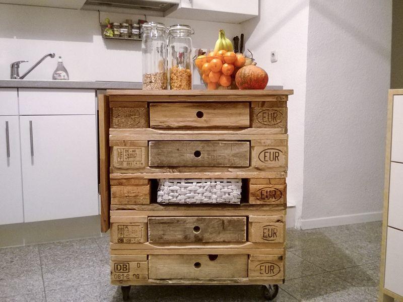 Kücheninsel selber bauen paletten  Tag 987: Gastbeitrag – Kochinsel aus Europaletten | supercoole ...