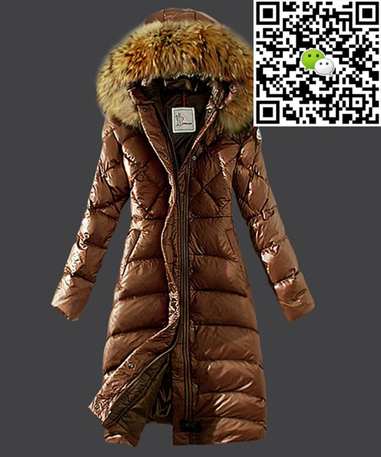 60c84deef Moncler Down Coat Women Hooded Windproof Coffee | Must Have ...