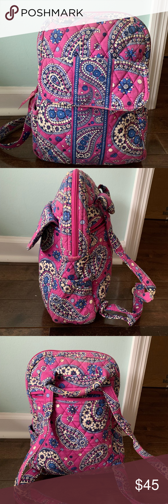 Authentic Vera Bradley Backpack (Small) Authentic Vera Bradley Backpack (Small) - Used, no tears, sl...