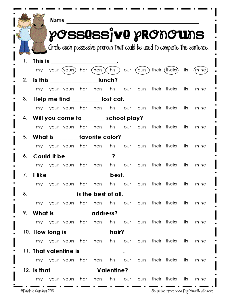 possessive pronouns_freebie.pdf - Google Drive [ 1035 x 800 Pixel ]