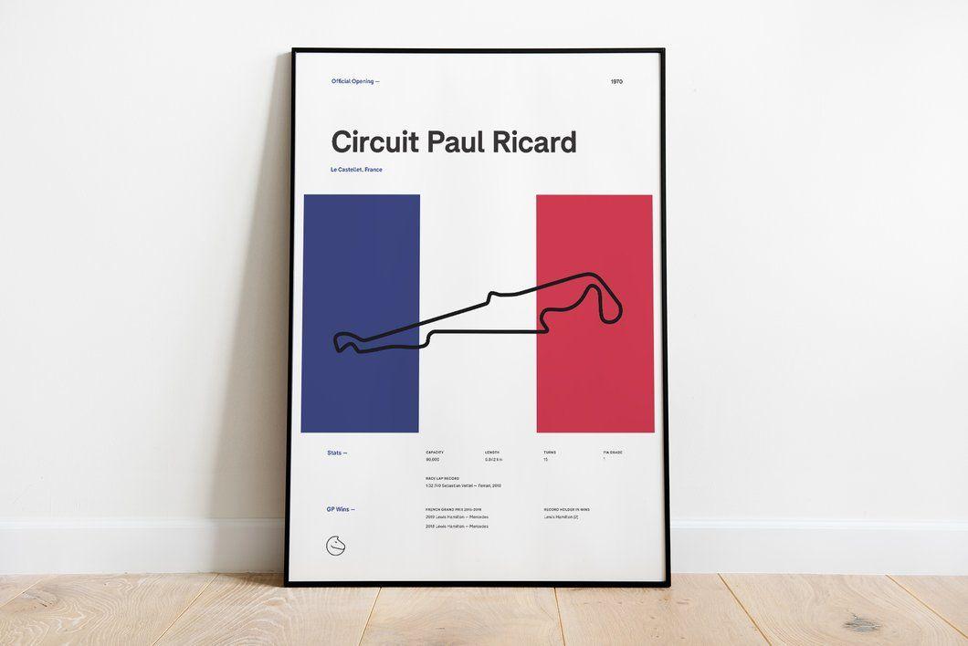 High Quality F1 Track Poster Designed By Brennan Gleason